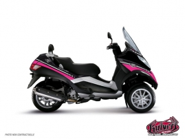 Graphic Kit Maxiscoot Cooper Piaggio MP 3 Pink