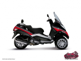 Graphic Kit Maxiscoot Cooper Piaggio MP 3 Red