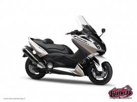 Graphic Kit Maxiscoot Cooper Yamaha TMAX 500 White Brown