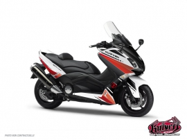 Graphic Kit Maxiscoot Cooper Yamaha TMAX 500 White Red