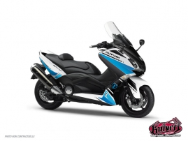 Graphic Kit Maxiscooter Cooper Yamaha TMAX 530 White Blue