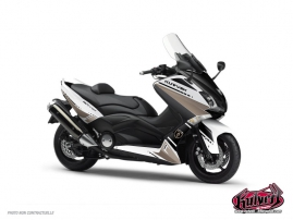 Graphic Kit Maxiscooter Cooper Yamaha TMAX 530 White Brown