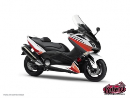 Graphic Kit Maxiscooter Cooper Yamaha TMAX 530 White Red