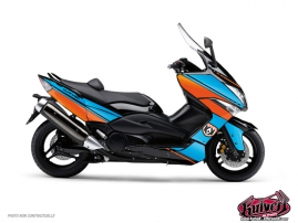 Graphic Kit Maxiscooter Cooper Yamaha TMAX 530 Blue Orange