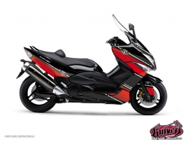 Graphic Kit Maxiscooter Cooper Yamaha TMAX 530 Red