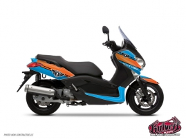 Graphic Kit Maxiscooter Cooper Yamaha XMAX 125 Blue Orange
