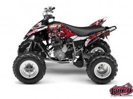 Yamaha 250 Raptor ATV DEMON Graphic kit Red