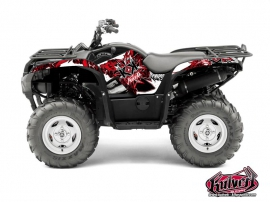 Yamaha 550-700 Grizzly ATV DEMON Graphic kit Red
