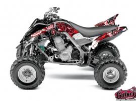 Yamaha 700 Raptor ATV Demon Graphic Kit Red