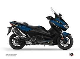 Graphic Kit Maxiscooter Energy Yamaha TMAX 530 Blue Black
