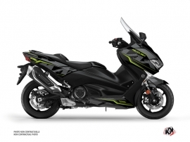 Graphic Kit Maxiscooter Energy Yamaha TMAX 530 Black Green