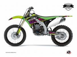 Kawasaki 250 KX Dirt Bike ERASER Graphic kit Green LIGHT