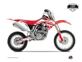 Honda 125 CR Dirt Bike ERASER Graphic kit White Red LIGHT