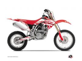 Honda 125 CR Dirt Bike ERASER Graphic kit White Red