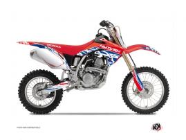 Honda 125 CR Dirt Bike ERASER Graphic kit Red Blue