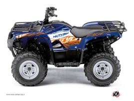Graphic Kit ATV Eraser Yamaha 125 Grizzly Blue Orange