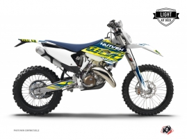 Husqvarna 125 TE Dirt Bike Eraser Graphic Kit Yellow Blue LIGHT
