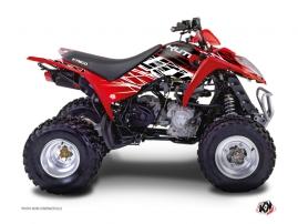 Kymco 250-300 MAXXER ATV Eraser Graphic Kit Red White