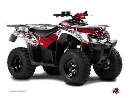 Kymco 250-300 MXU ATV Eraser Graphic Kit Red White