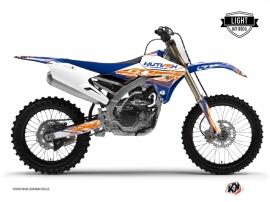 Graphic Kit Dirt Bike Eraser Yamaha 250 YZF Blue Orange LIGHT