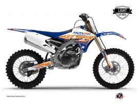 Graphic Kit Dirt Bike Eraser Yamaha 450 YZF Blue Orange LIGHT