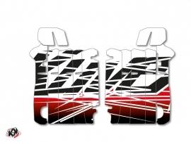 Graphic Kit Radiator guards Eraser Honda 250 CRF 2014-2016 Red White