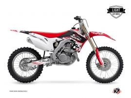 Honda 250 CRF Dirt Bike ERASER Graphic kit Red White LIGHT