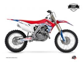 Honda 250 CRF Dirt Bike ERASER Graphic kit Red Blue LIGHT