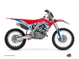 Honda 250 CRF Dirt Bike ERASER Graphic kit Red Blue