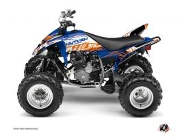 Yamaha 250 Raptor ATV ERASER Graphic kit Blue Orange