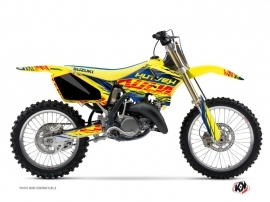 Suzuki 250 RM Dirt Bike ERASER Graphic kit Blue Yellow