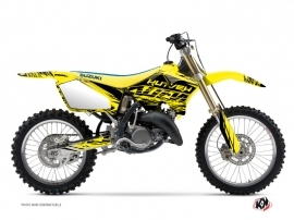 Suzuki 250 RM Dirt Bike ERASER Graphic kit Yellow Black