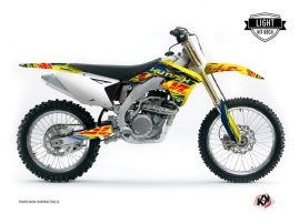 Suzuki 250 RMZ Dirt Bike ERASER Graphic kit Blue Yellow LIGHT