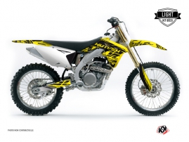 Suzuki 250 RMZ Dirt Bike ERASER Graphic kit Yellow Black LIGHT