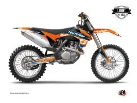 KTM 250 SX Dirt Bike ERASER Graphic kit Blue Orange LIGHT