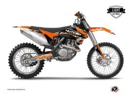 KTM 250 SX Dirt Bike ERASER Graphic kit Orange Black LIGHT