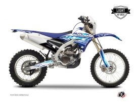 Yamaha 250 WRF Dirt Bike ERASER Graphic kit Blue LIGHT