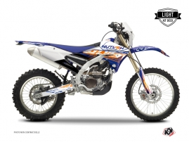 Yamaha 250 WRF Dirt Bike ERASER Graphic kit Blue Orange LIGHT