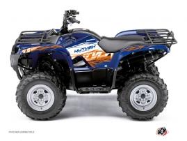 Graphic Kit ATV Eraser Yamaha 350 Grizzly Blue Orange