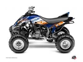 Graphic Kit ATV Eraser Yamaha 350 Raptor Blue Orange