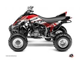 Graphic Kit ATV Eraser Yamaha 350 Raptor Red White