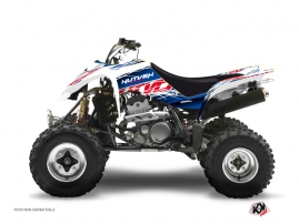 Suzuki 400 LTZ ATV ERASER Graphic kit Blue Red