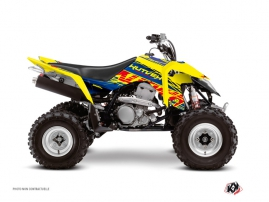 Graphic Kit ATV Eraser Suzuki 400 LTZ IE Blue Yellow