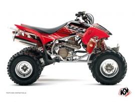 Graphic Kit ATV Eraser Honda 400 TRX Red White