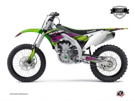 Kawasaki 450 KXF Dirt Bike ERASER Graphic kit Green LIGHT