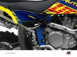 Graphic Kit Frame protection ATV Eraser Suzuki 450 LTR Blue Yellow