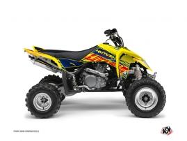 Suzuki 450 LTR ATV ERASER Graphic kit Blue Yellow