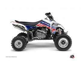 Suzuki 450 LTR ATV ERASER Graphic kit Blue Red