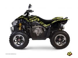 Graphic Kit ATV Eraser Kymco 450 MAXXER Neon Grey