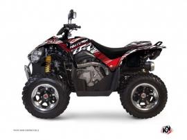 Graphic Kit ATV Eraser Kymco 450 MAXXER Red White